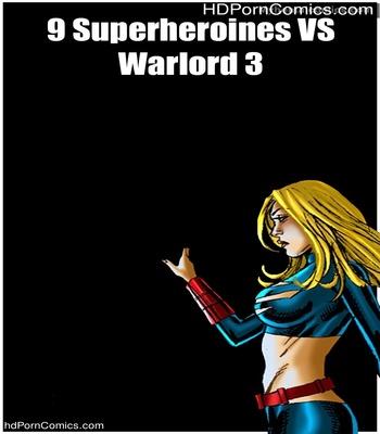 Porn Comics - 9 Superheroines VS Warlord 3 Sex Comic