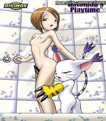 Porn Comics - Gatomon's Playtime Sex Comic
