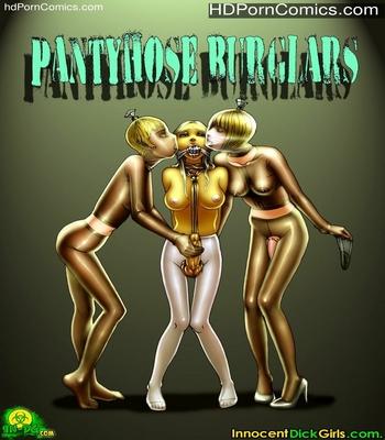 Porn Comics - Innocent Dickgirls- Pantyhose Burglars free Cartoon Porn Comic