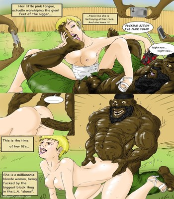 Interracial- Blonde in White4 free sex comic