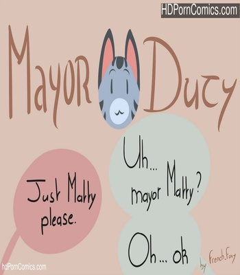 Porn Comics - Mayor Duty Sex Comic