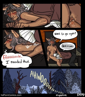 Mr Invisible & The Werewolf comic porn