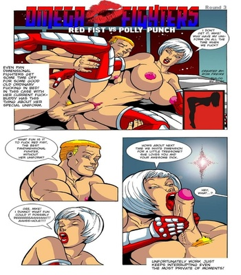 Omega Fighters 3 – Red Fist VS Polly Punch Sex Comic sex 2