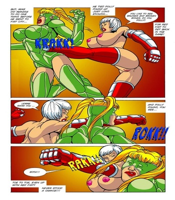 Omega Fighters 3 – Red Fist VS Polly Punch Sex Comic sex 5