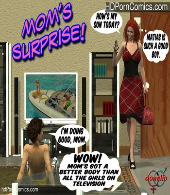 Porn Comics - Strideri- Mom's Surprise free Cartoon Porn Comic