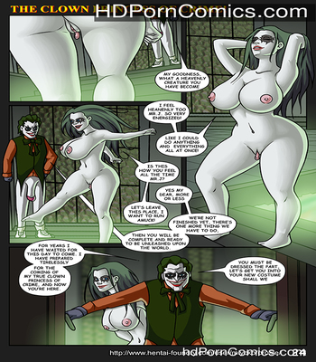 The Clown Princess of Crime free Cartoon Porn Comic