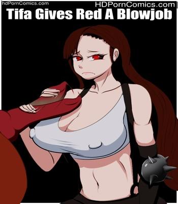 Porn Comics - Tifa Gives Red A Blowjob Sex Comic
