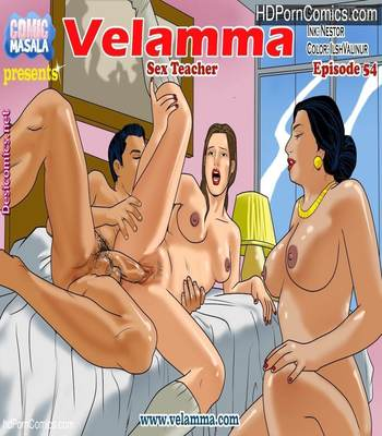 Porn Comics - Velamma 54- Sex Teacher free Comics