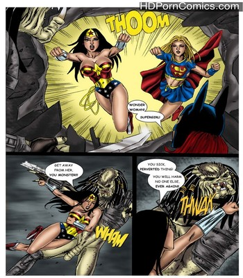 Porn Comics - Wonder Woman – In The Clutches Of The Predator 2 Sex Comic