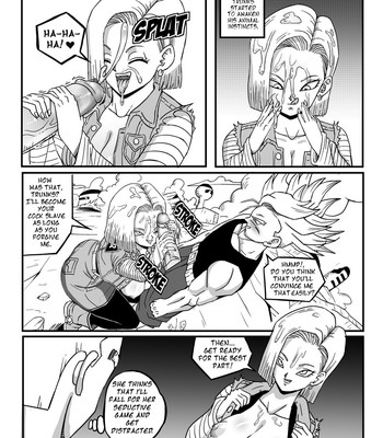 Android 18 Stays In The Future comic porn sex 006