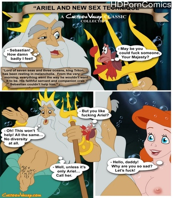 Porn Comics - Ariel And The New Sex Technique