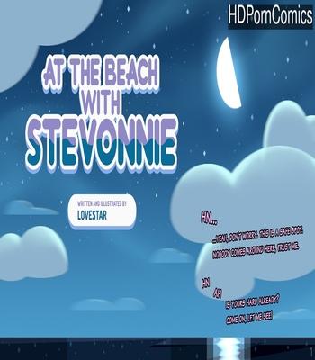 Porn Comics - At The Beach With Stevonnie