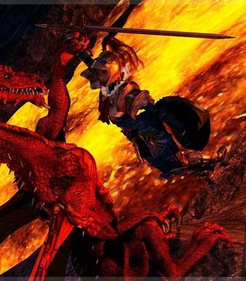 Bretonnia Knight - Dragon's Lair comic porn sex 006