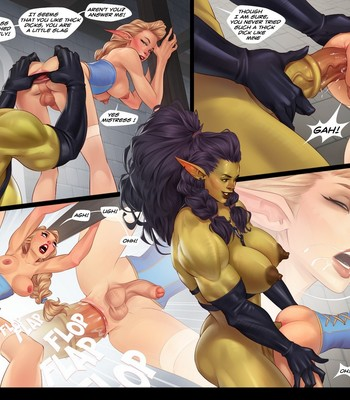 Captive Of The Orcs (Futa) comic porn sex 008