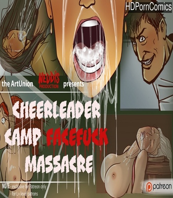 Porn Comics - Cheerleader Camp Facefuck Massacre