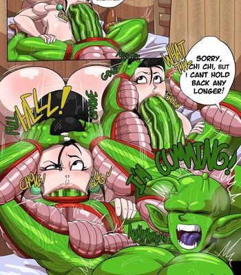 Chi Chi x Piccolo comic porn sex 009