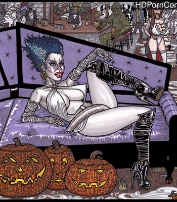 Porn Comics - Halloween Hangout With Futa Bride