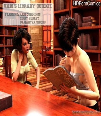 Porn Comics - Kari's Library Quickie