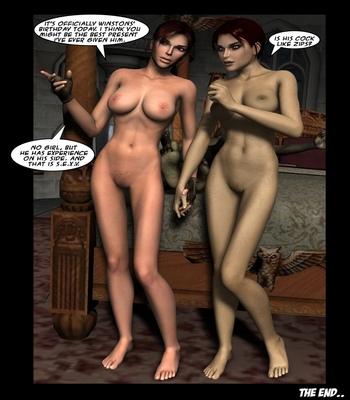 Lara Croft And Doppelganger comic porn