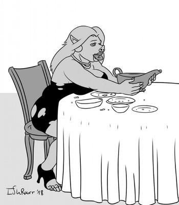 Pig In The Restaurant comic porn sex 004