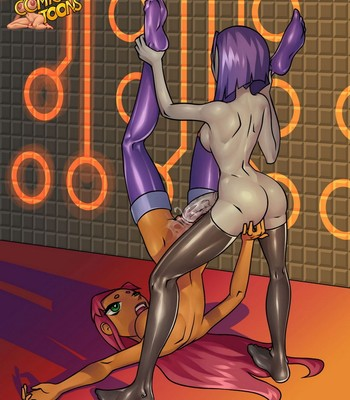 Raven And Starfire comic porn sex 012
