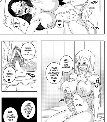 Robin x Nami - Reunion On The Thousand Sunny comic porn