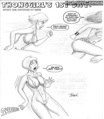 Porn Comics - Thong Girl's First Day