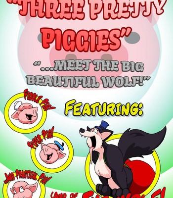 Porn Comics - Three Pretty Piggies Meet The Big Beautiful Wolf