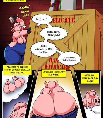 Three Pretty Piggies Meet The Big Beautiful Wolf comic porn sex 010