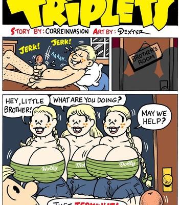Porn Comics - Triplets