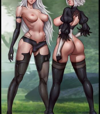 Waifunator 2 – Nier Automata (Futa) comic porn sex 025