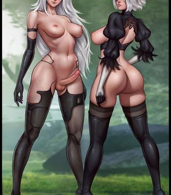 Waifunator 2 – Nier Automata (Futa) comic porn sex 026