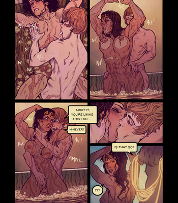 Wonder Woman's Bathroom Break comic porn sex 005