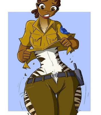 Zebra Zoo-Girl comic porn sex 004
