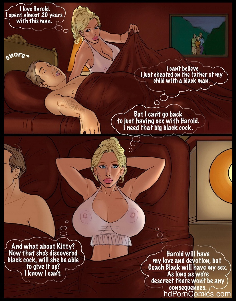 2 Hot Blondes Bet On Big Black Cocks Sex Comic