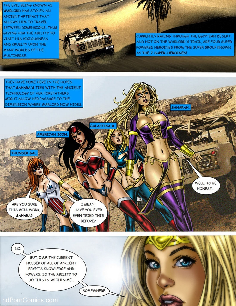 9 Superheroines VS Warlord 1 2 free sex comic
