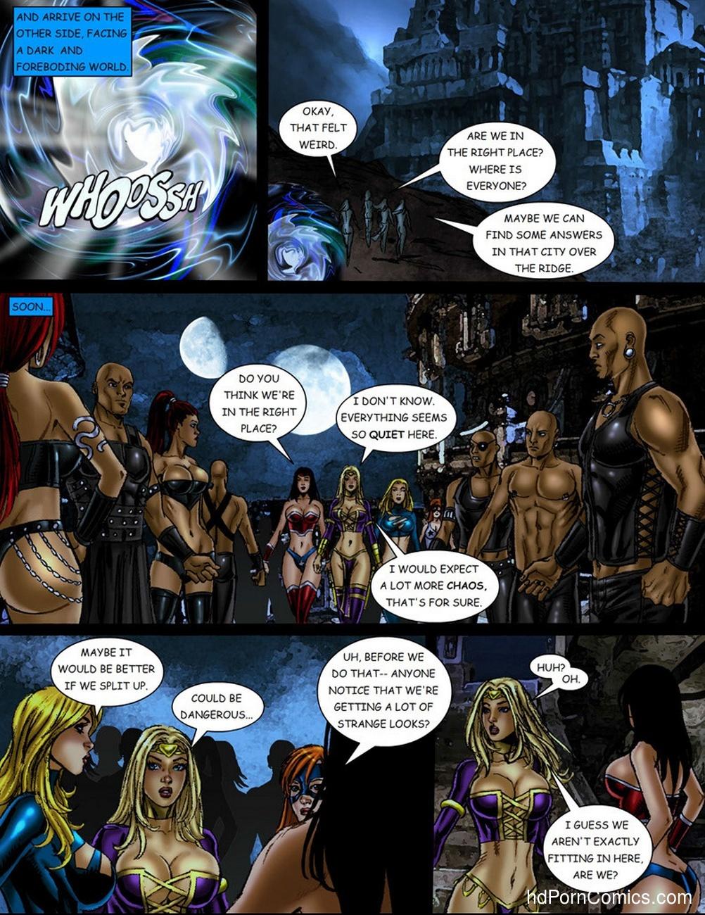 9 Superheroines VS Warlord 1 5 free sex comic