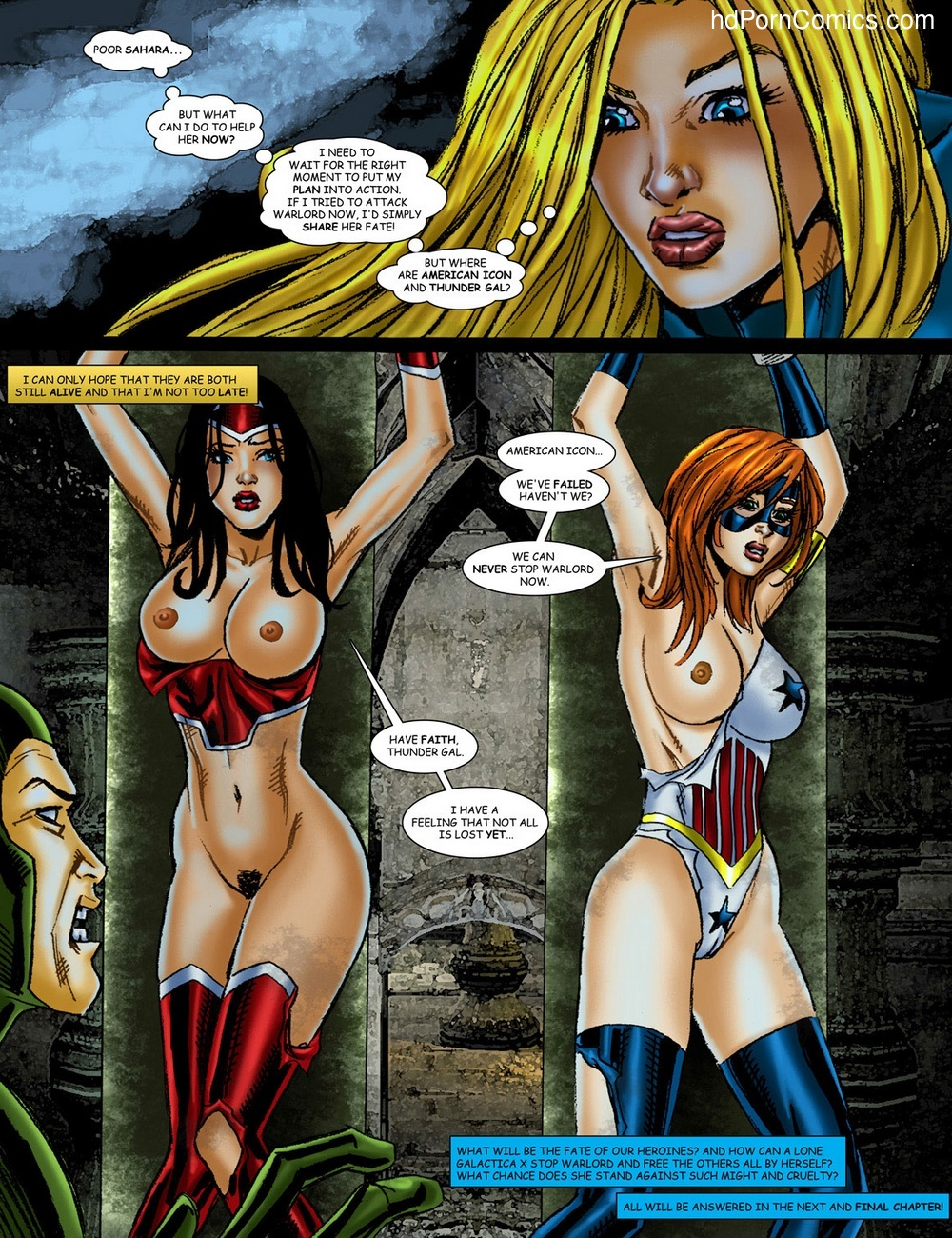 9 Superheroines VS Warlord 2 Sex Comic