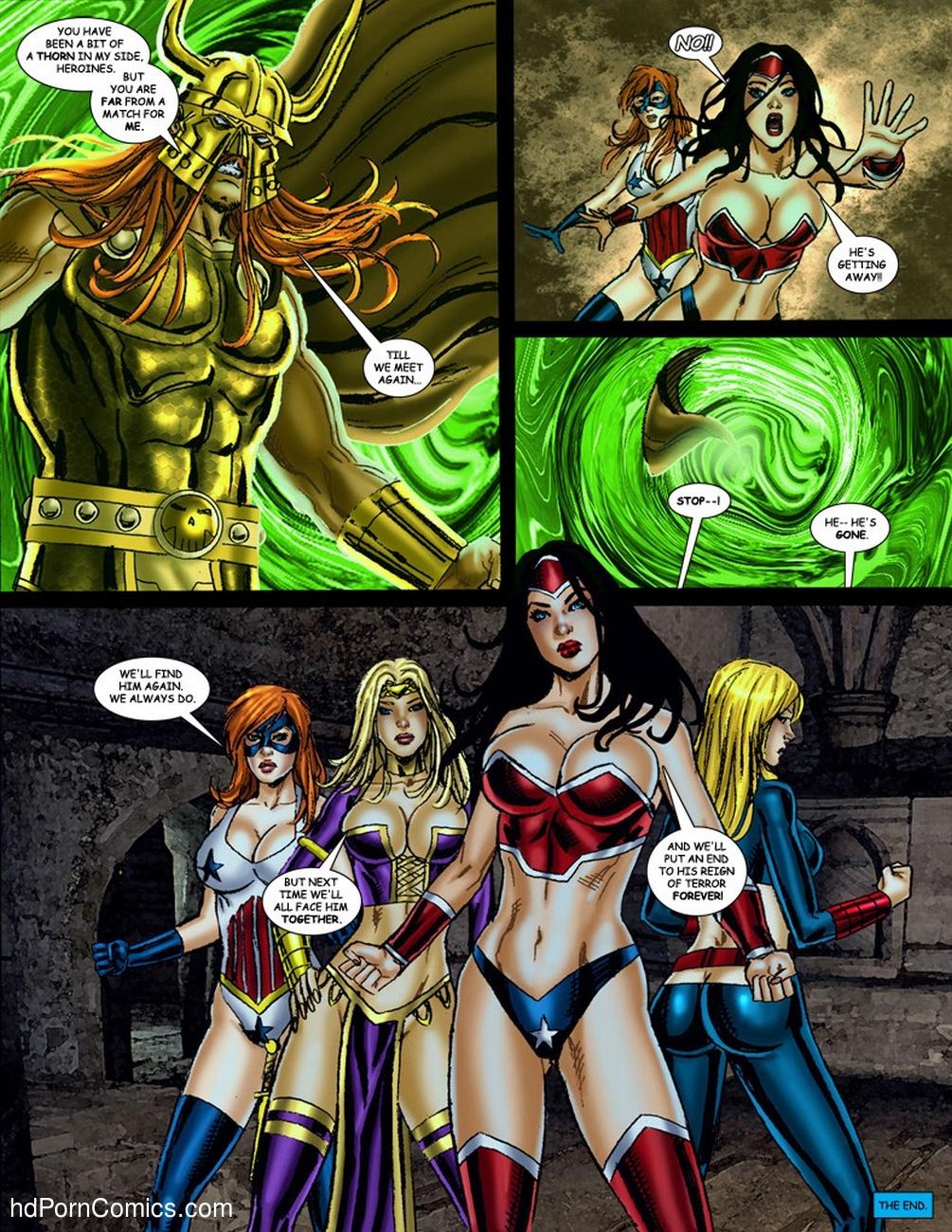 9 Superheroines VS Warlord 3 Sex Comic