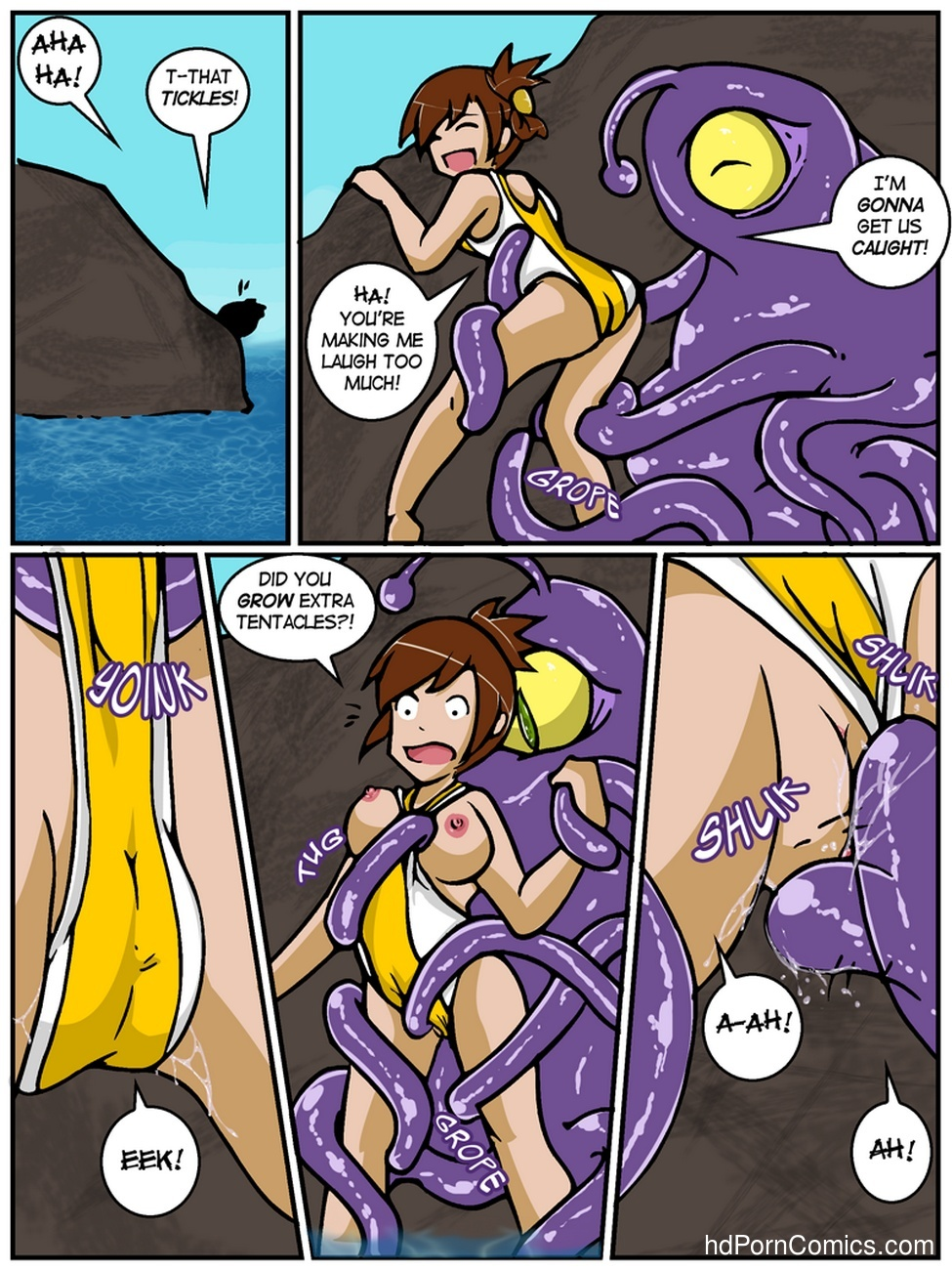 A Date With A Tentacle Monster 2 - Tentacle Beach Party 6 free sex comic