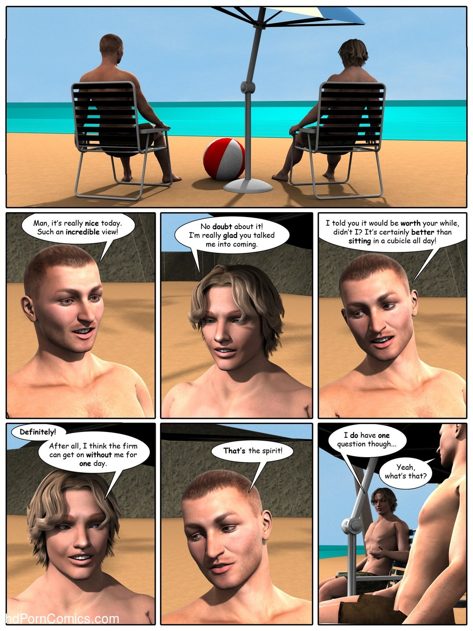 A Day At The Beach 2 free sex comic