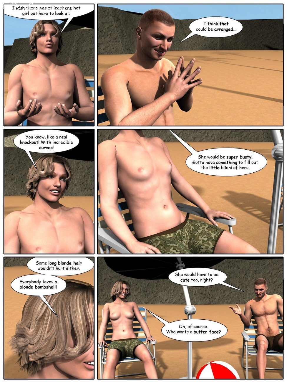 A Day At The Beach 4 free sex comic