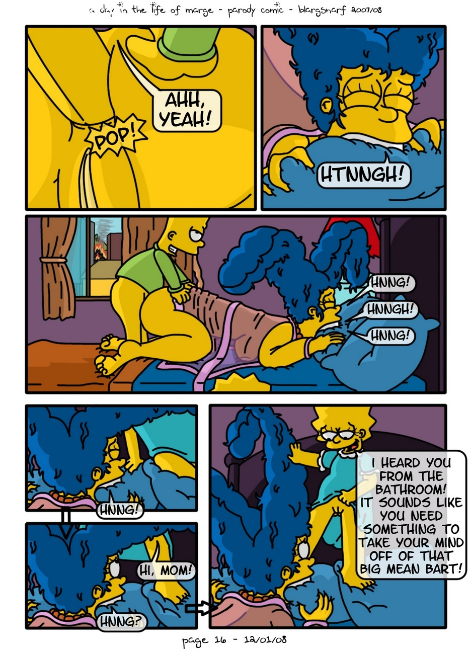 A Day In The Life Of Marge 17 free sex comic
