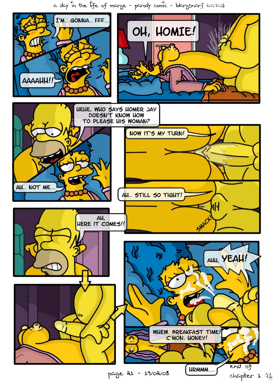 A Day In The Life Of Marge Sex Comic