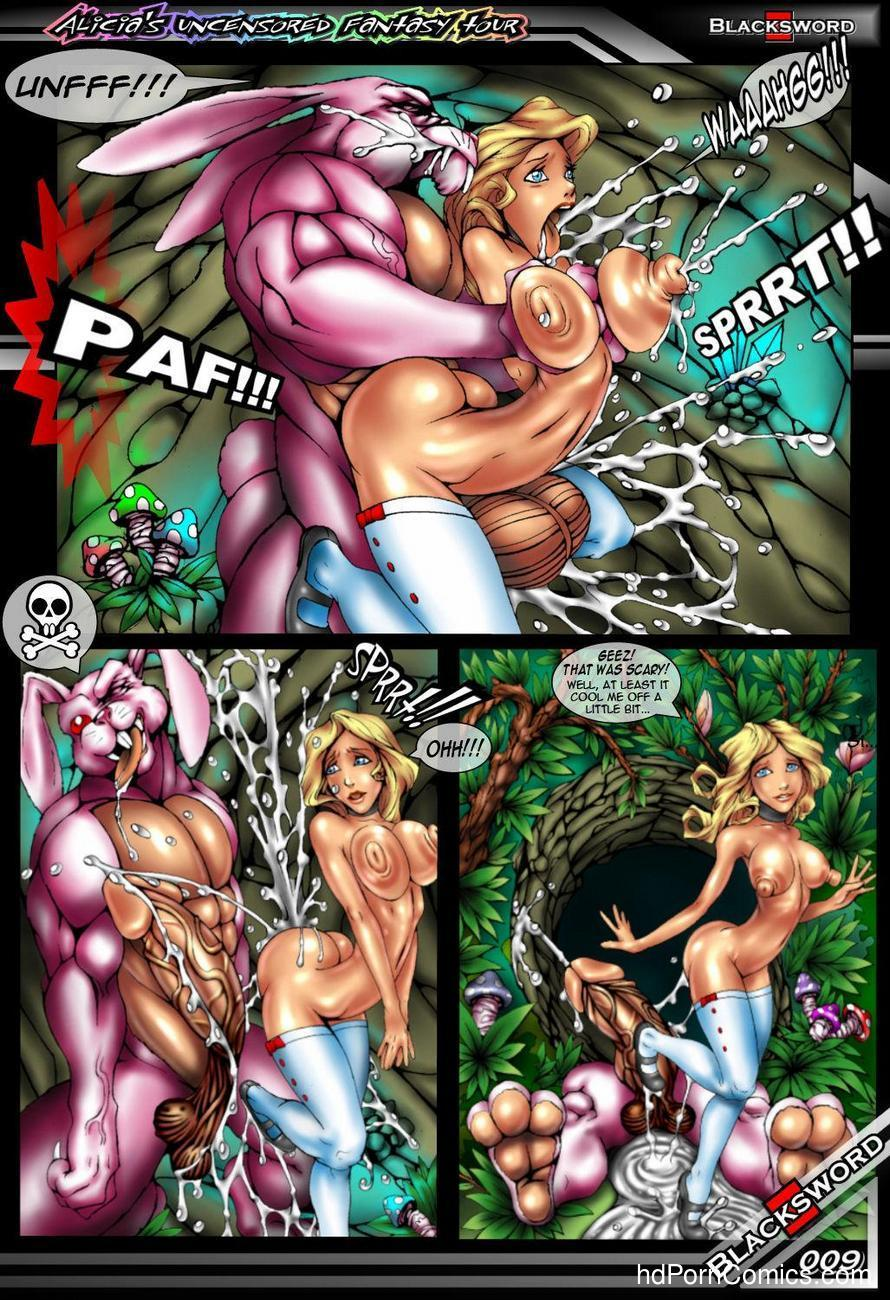 Alicia's Uncensored Fantasy Tour Sex Comic
