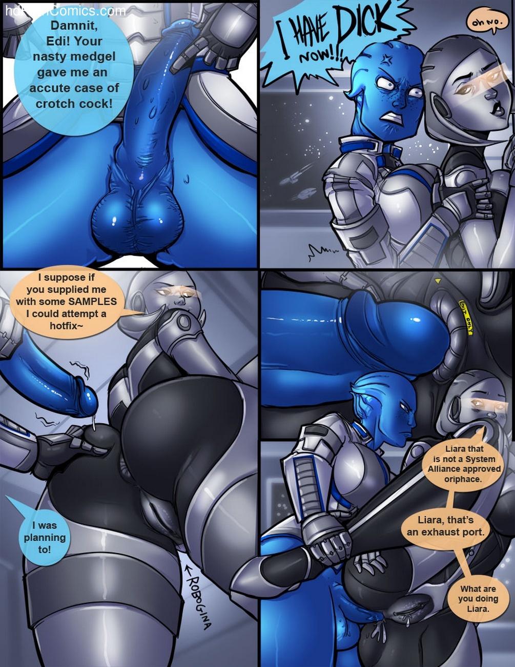 3D Comic: Ass Effect 1-3