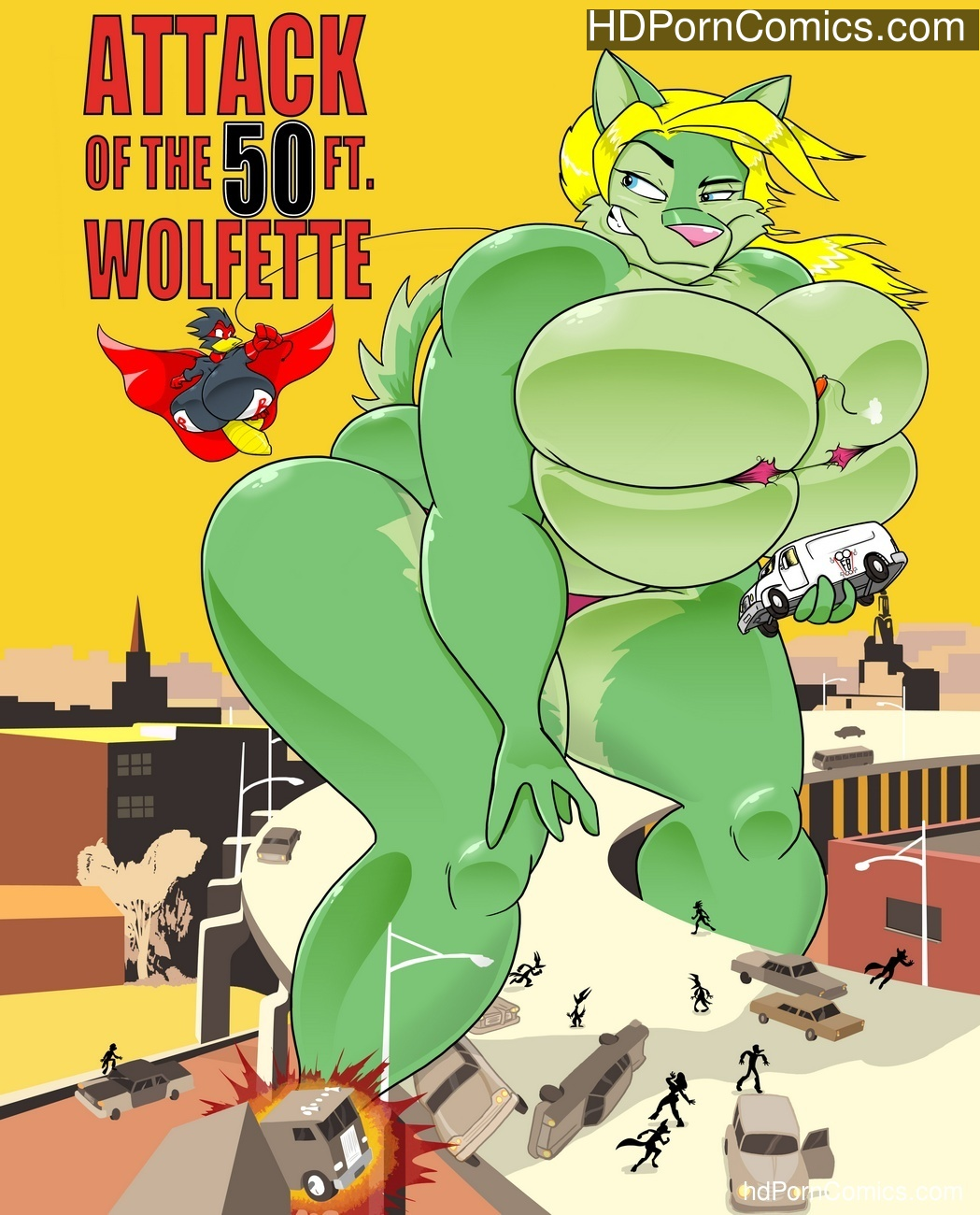 Attack Of The 50ft Wolfette 1 Sex Comic