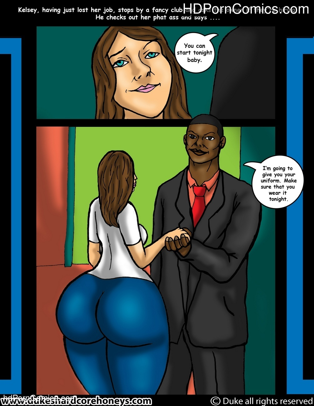 BBC Slut Kelsey 2 – The New Job Sex Comic