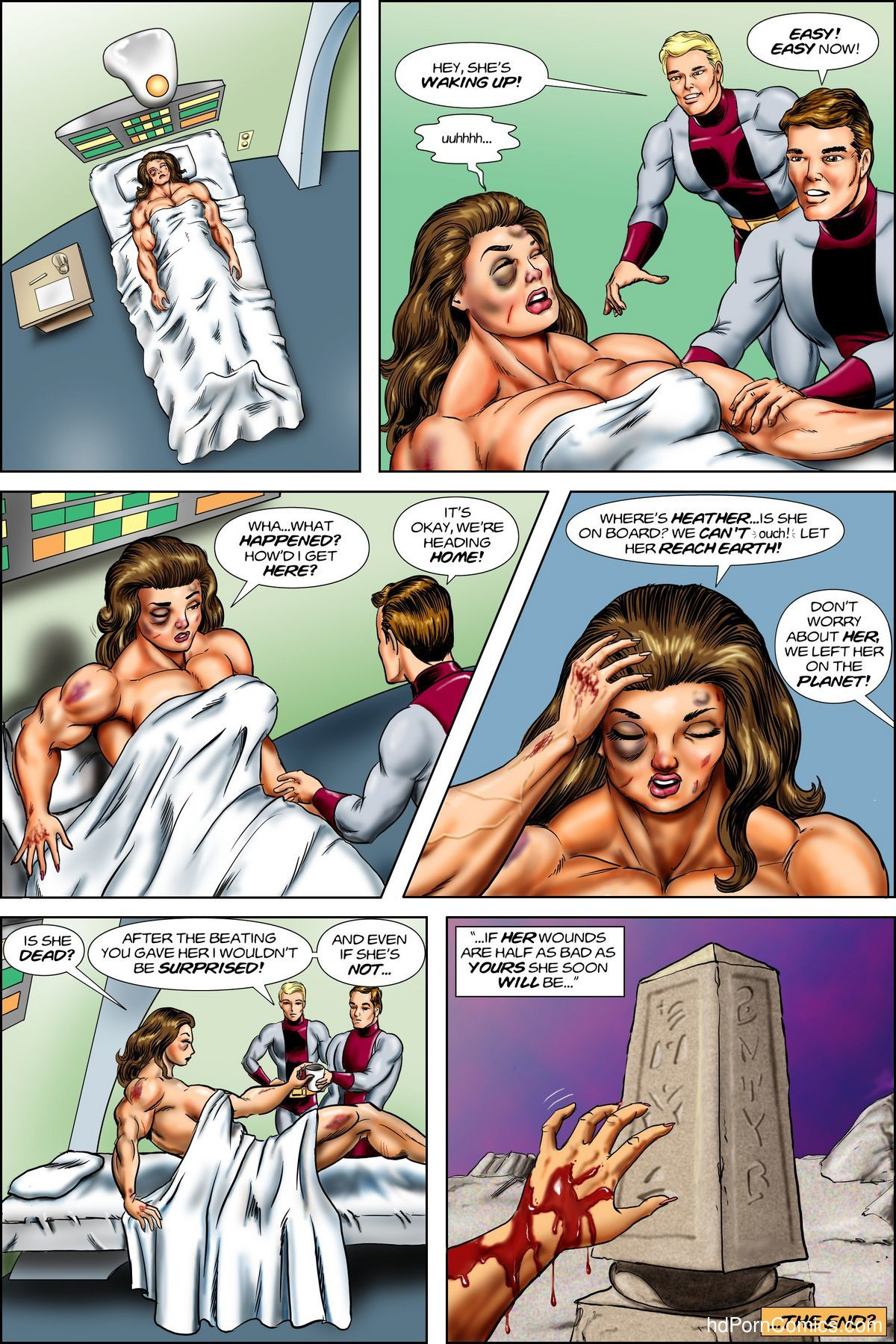 Battle of the Space Amazons free Cartoon Porn Comic