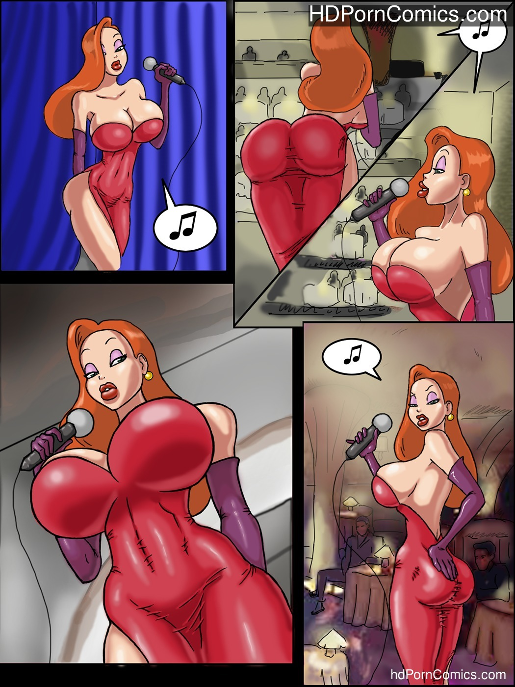 Beauty and the Bouncer free Cartoon Porn Comic